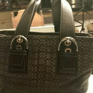 Coach signature satchel bag